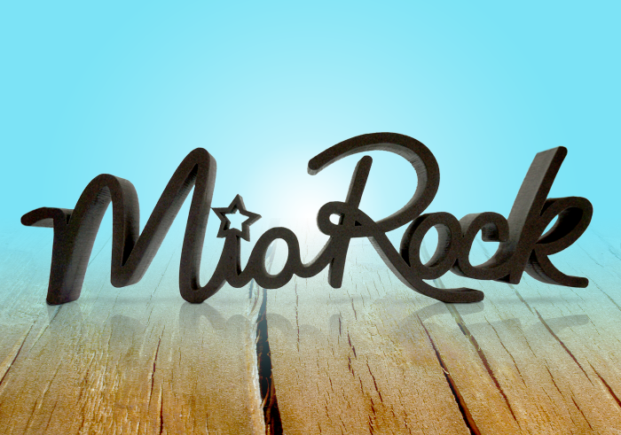 Mia Rock display logo
