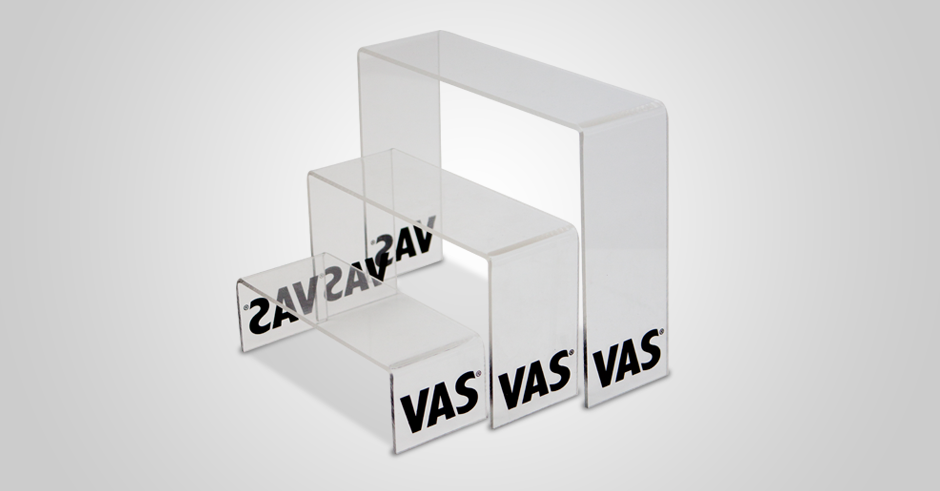 Vas expositor display plv estriper