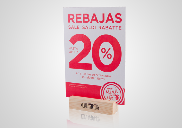 PLV rebajas: Koala Bay display carton